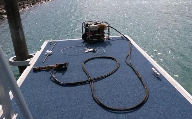 Secure dock with arrowhead anchors