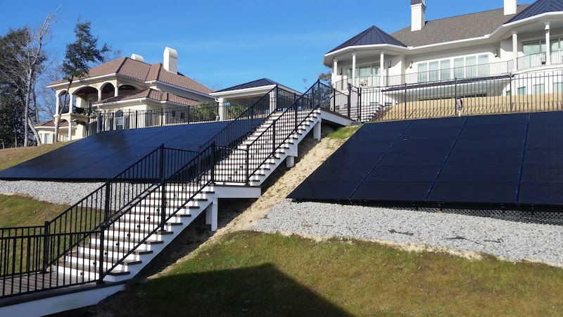 Residential solar ground mount anchoring system