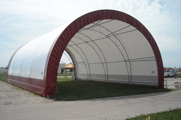Penetrators anchor this portable structure