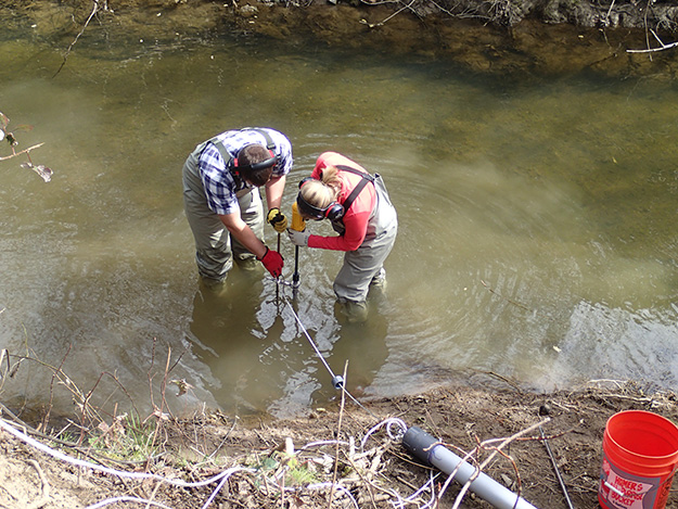 Anchoring underwater for erosion control
