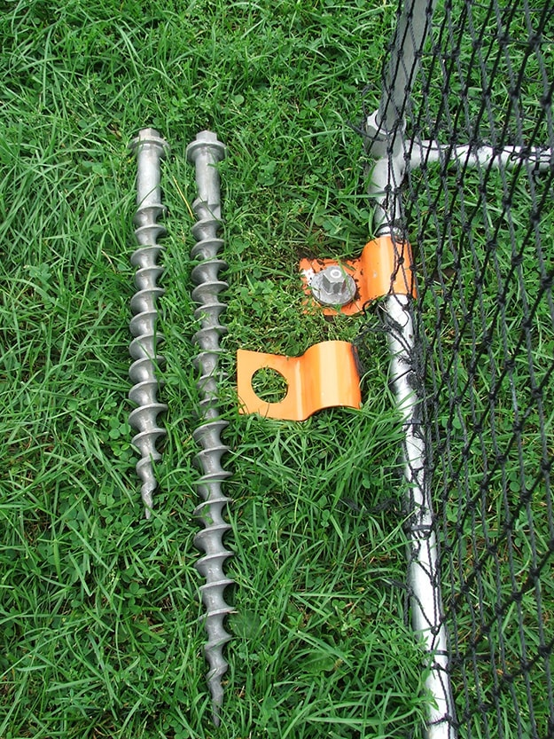 Secure soccer goals and nets with Penetrator anchors