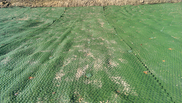 Anchoring for erosion control with Bullets