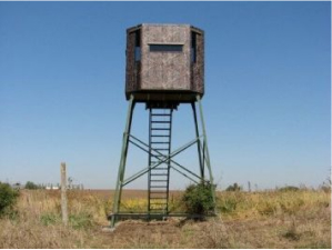 hunting blinds for ducks, deer, elk, and other hunting game