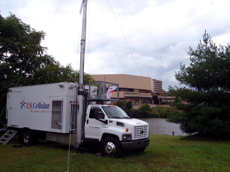18-inch Penetrators secure antenna mast