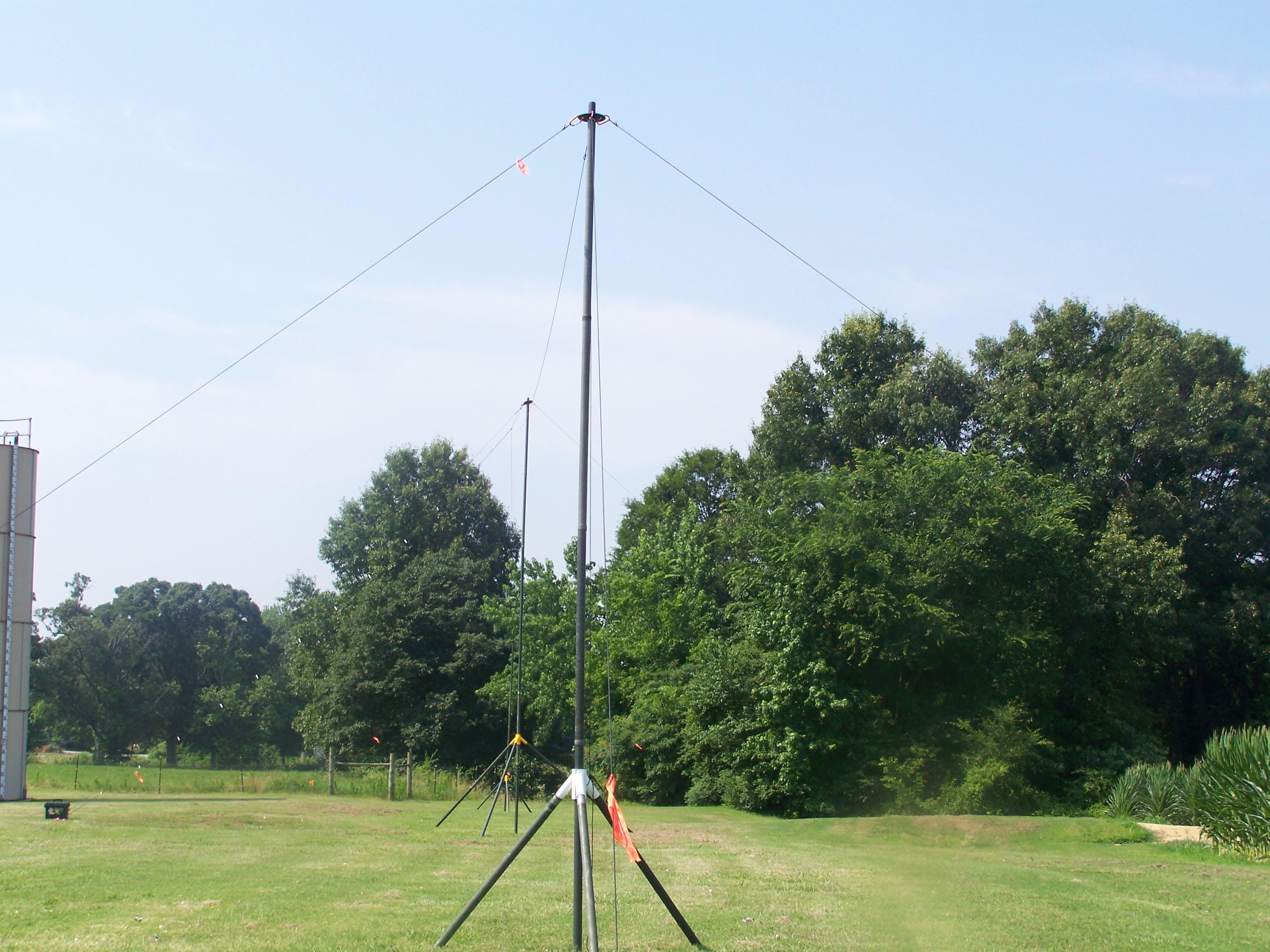 18-inch Penetrators anchoring portable wind antenna