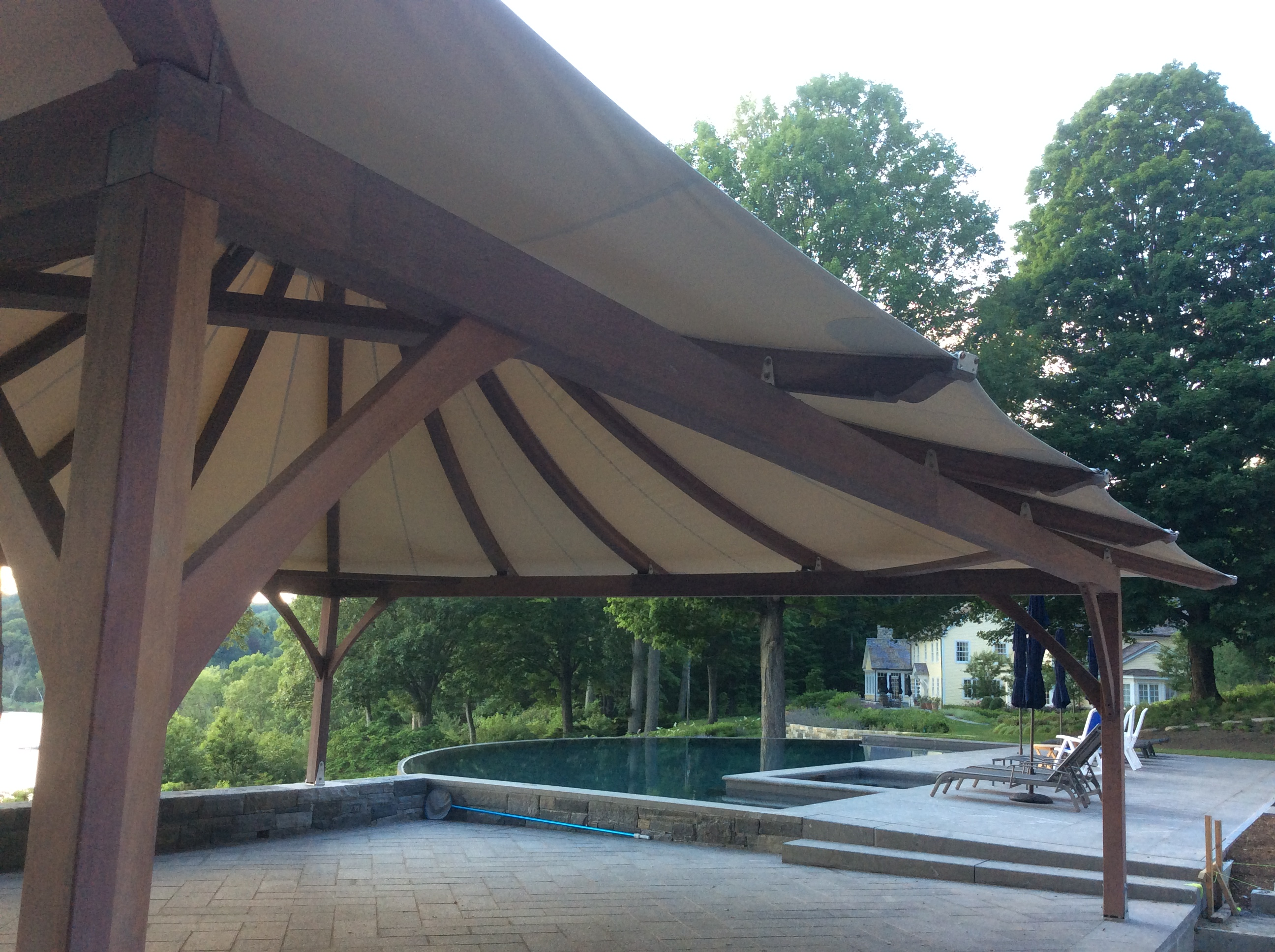 Large tent secured with PE46-Hex Penetrator earth anchors