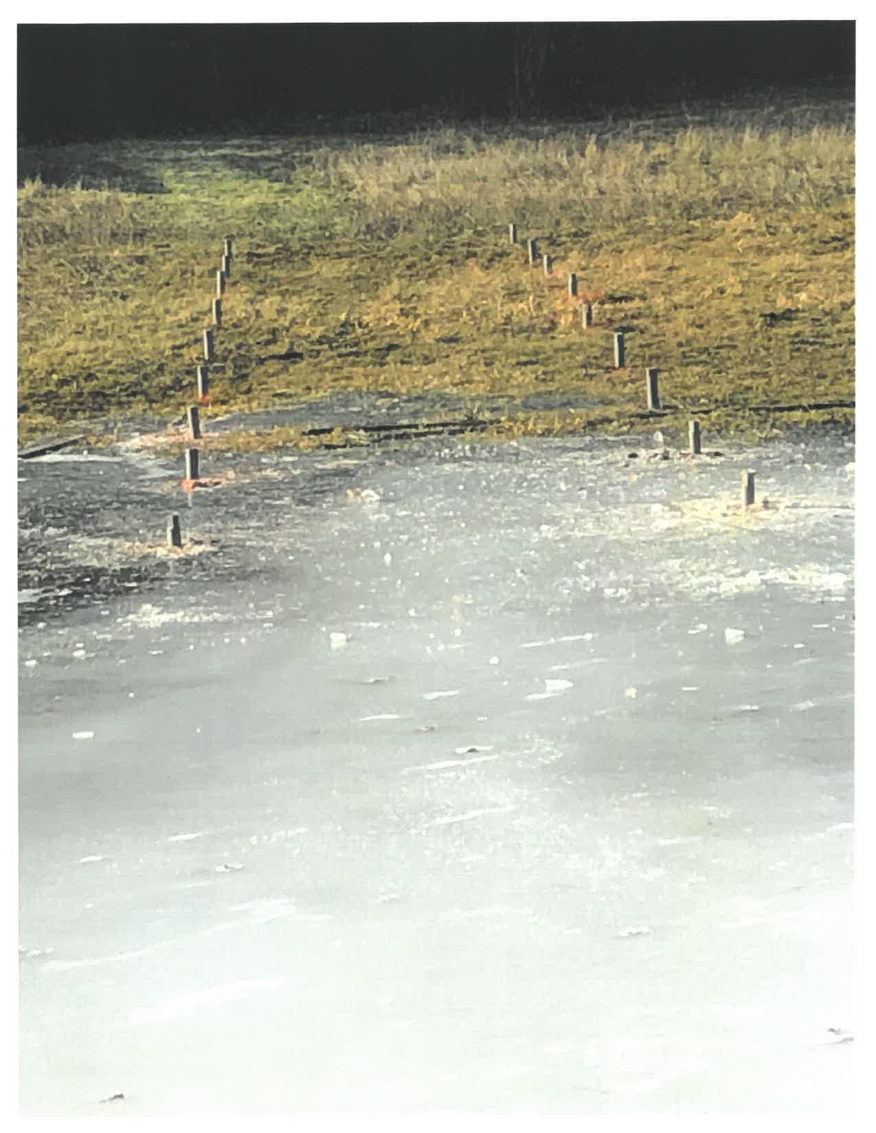 PE46-Hex8 Penetrators secure solar ground mount in frozen ground