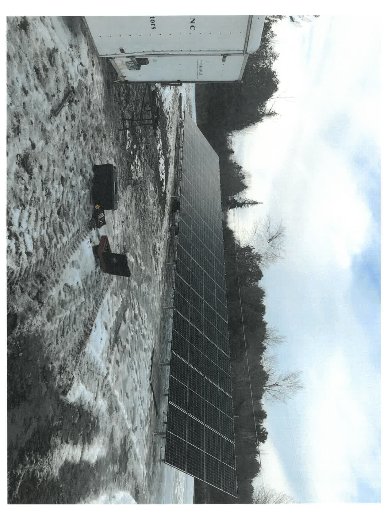 Solar ground mount anchored with PE46-Hex8 Penetrators in frozen ground