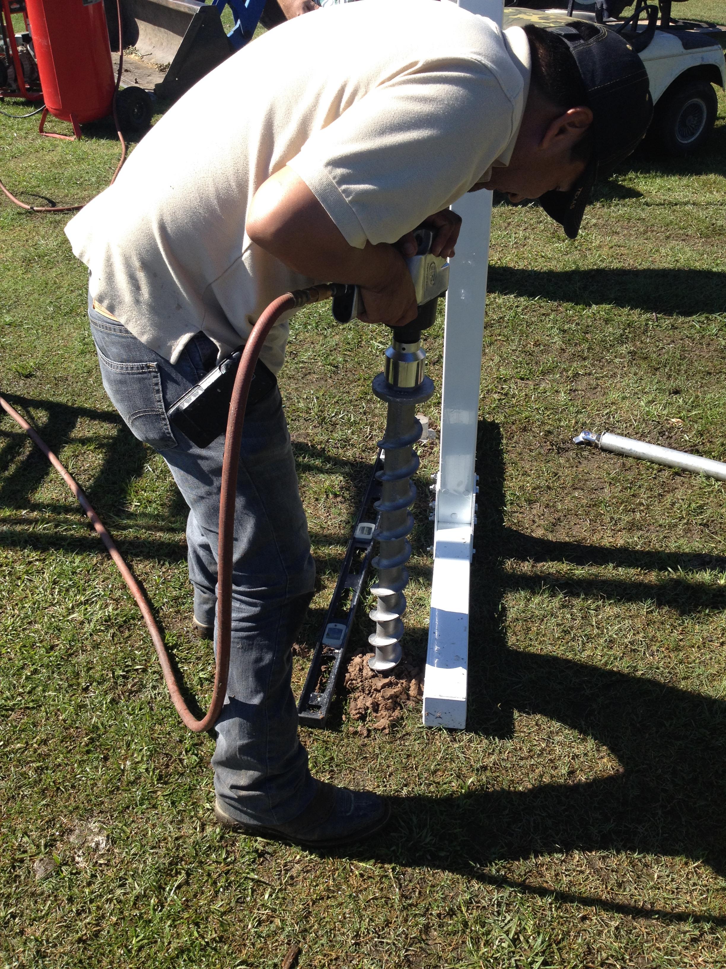 Install PE46-Hex Penetrators using pneumatic impact