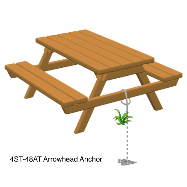 Arrowhead picnic table anchor