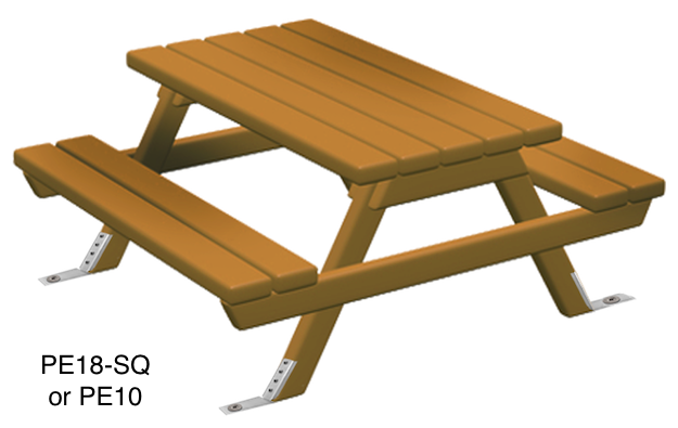 Anchor picnic tables with Penetrators