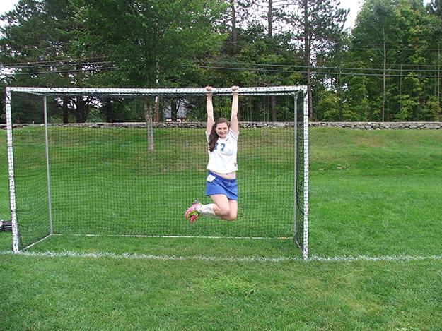 Anchor for soccer goals using Penetrators