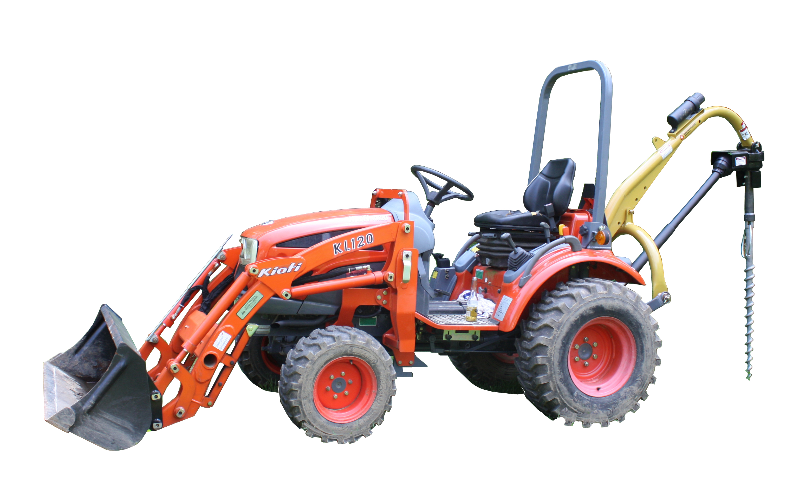 PTO from tractor is used to install PE46-Guy-TC