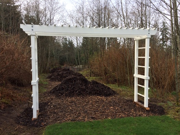 Vineyard trellis anchored with Penetrator
