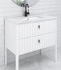 Alexandra 900 Free Standing Vanity (White Gloss) - 14359