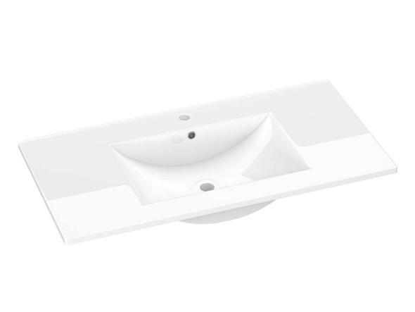 vitreous china vanity basin 900 mm