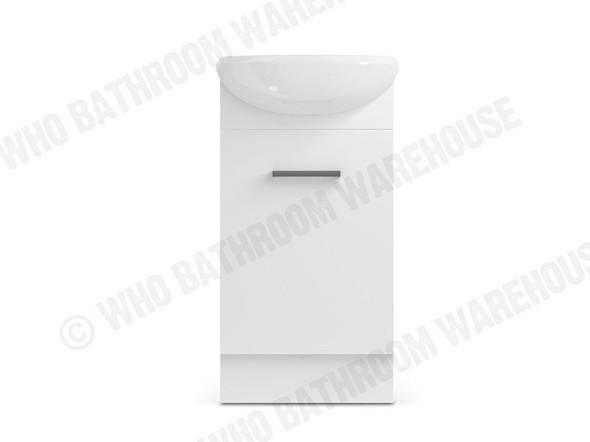 Slimline SR Free Standing Vanity (White Gloss) - 11280
