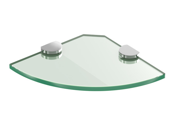 Glass Shelf 200mm ROUND Bathroom Accessory - 12050