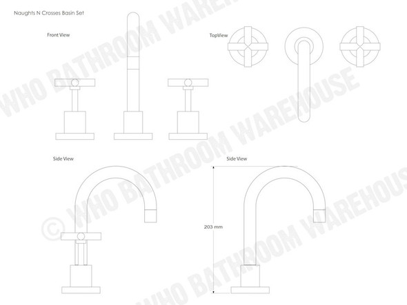 Naughts N Crosses Basin Combination Tap (Polished Chrome) - 12101