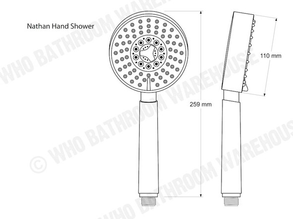 Nathan Five Function Hand Shower Tap (Polished Chrome) - 12197