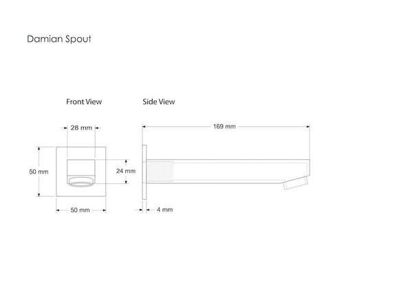Damian 170 Spout Tap (Polished Chrome) - 12264