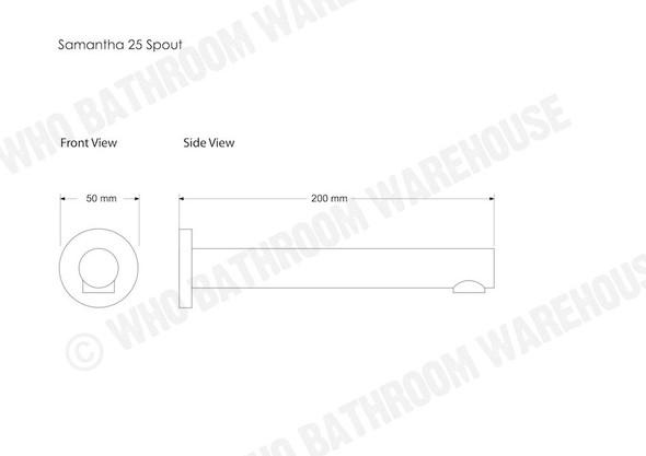 Samantha 25/210 Spout Tap (Polished Chrome) - 12288