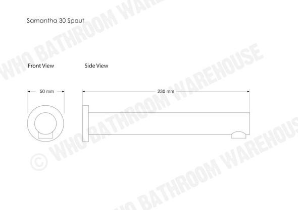 Samantha 30/230 Spout Tap (Polished Chrome) - 12295