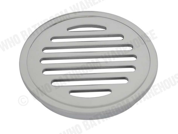 Round Slotted 100mm Slimline Waste Waste Plumbing (Polished Chrome) - 12329