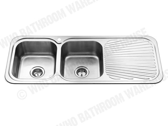 Sheffield 1180D Kitchen Sink/Trough (Polished Stainless) - 12357