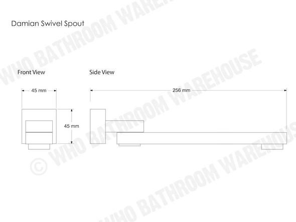 Damian Swivel Spout Tap (Polished Chrome) - 12407