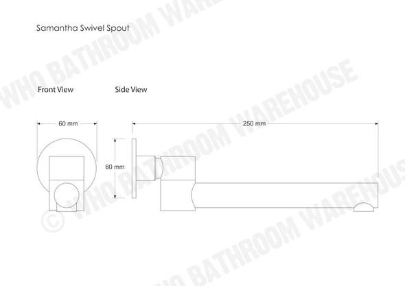 Samantha Swivel Spout Tap (Polished Chrome) - 12408