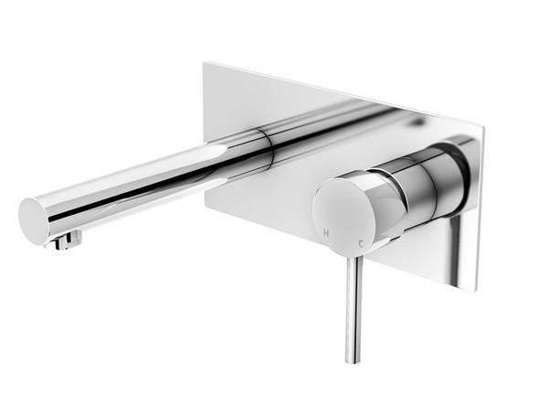 Latest design combination bath mixer/filler - Highest quality ceramic disk operation - Single lever mixer controls both water temperature and flow - Manufactured from high quality solid brass with a highly polished chrome finish.