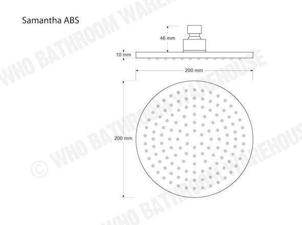 Samantha ABS Shower Head Tap (Polished Chrome) - 12416