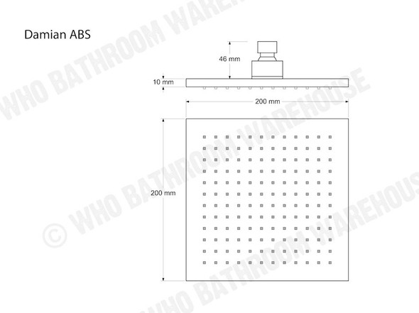 Damian ABS Shower Head Tap (Polished Chrome) - 12417