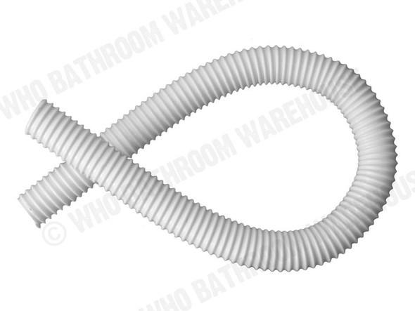 Flexi Dinger 1m Hose Waste Plumbing (White) - 12476