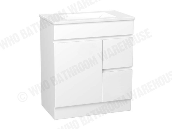 Project FP 750 Free Standing Vanity (White Gloss) - 12492