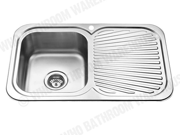 Sheffield 780-Left Kitchen Sink/Trough (Polished Stainless) - 12536