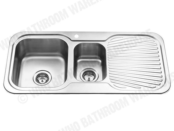 Sheffield 980D-Left Kitchen Sink/Trough (Polished Stainless) - 12537
