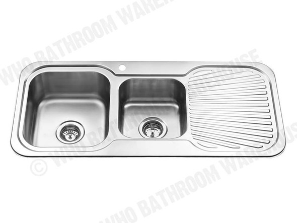 Sheffield 1080D-Left Kitchen Sink/Trough (Polished Stainless) - 12538