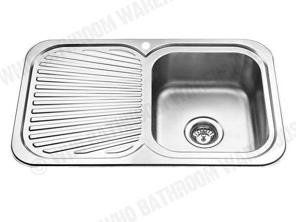 Sheffield 780-Right Kitchen Sink/Trough (Polished Stainless) - 12565