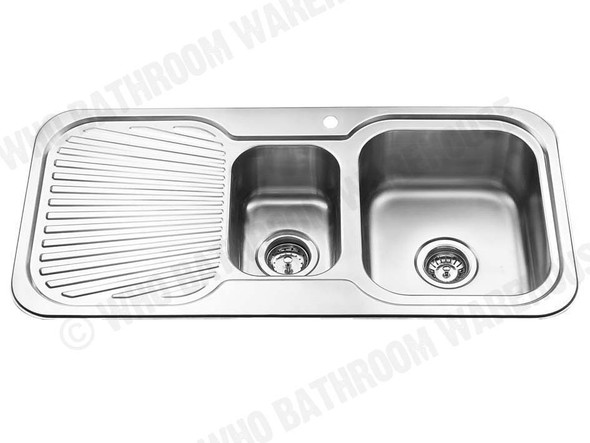 Sheffield 980D-Right Kitchen Sink/Trough (Polished Stainless) - 12566