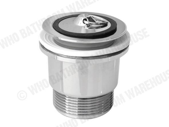 Plug & Waste Brass Plug 40mm Waste Plumbing (Polished Chrome) - 12569