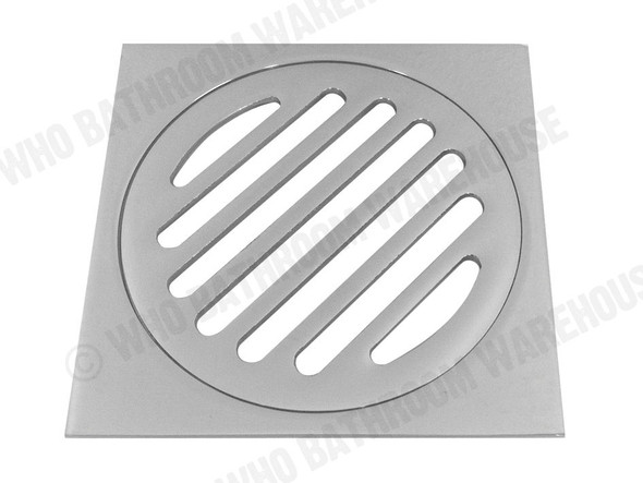 Square Slotted 100mm Slimline Waste Waste Plumbing (Polished Chrome) - 12629