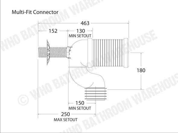 Pan Bend Multi Fit Waste Plumbing (White) - 12647
