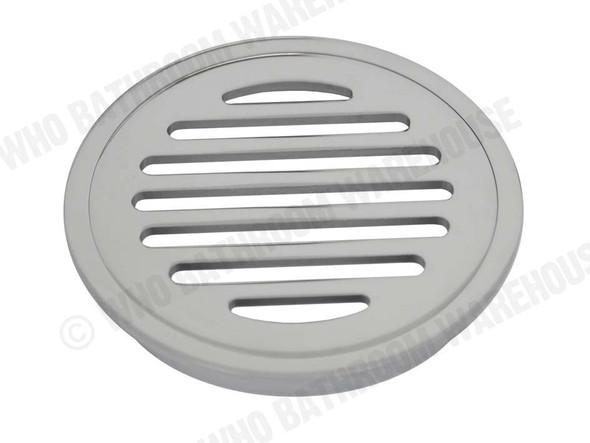 Round Slotted 80mm Slimline Waste Waste Plumbing (Polished Chrome) - 12705