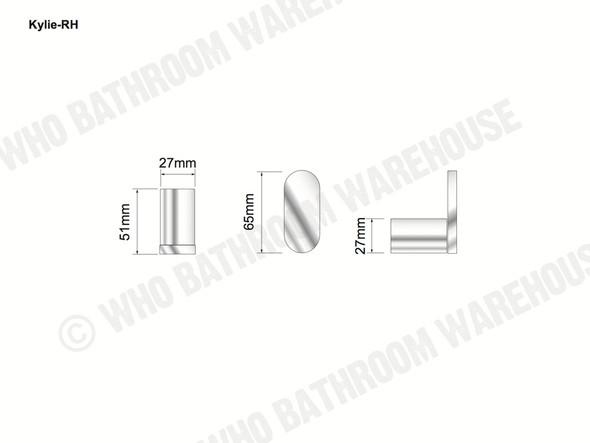 Kylie Toilet Roll Holder Bathroom Accessory (Polished Chrome) - 12762