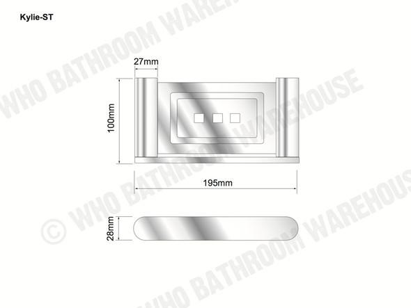 Kylie Soap Tray Bathroom Accessory (Polished Chrome) - 12765