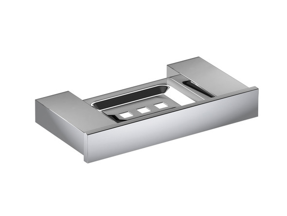 Damian Soap Tray Bathroom Accessory (Polished Stainless) - 12769