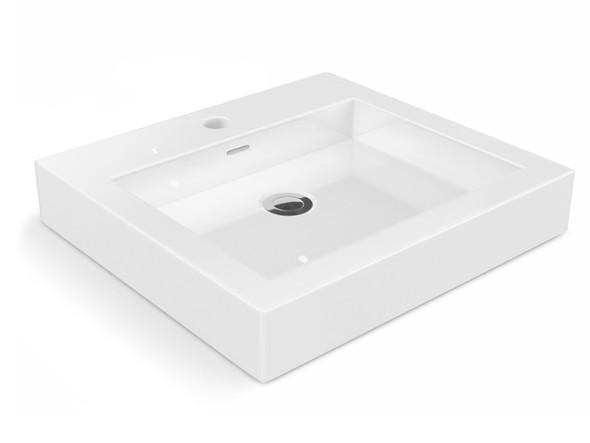 High quality vitreous china bench mount basin.