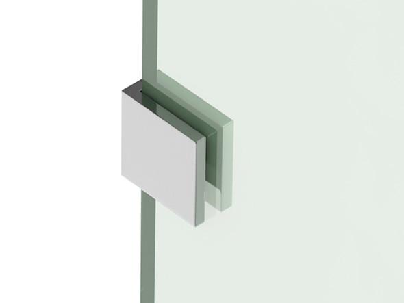 GP Square Bracket Frameless Shower Screen (Polished Chrome) - 13050